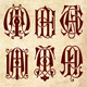 Gothic Style Monograms Starting with Letter A - GraphicRiver Item for Sale