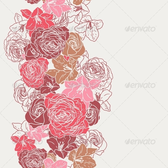 GraphicRiver Beautiful Seamless Rose Pattern 4933125