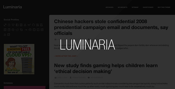 Luminaria WordPress Theme - Personal Blog / Magazine