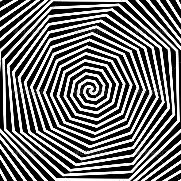 GraphicRiver Black and White Hypnotic Background 4935550