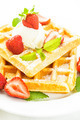 waffle with strawberry - PhotoDune Item for Sale