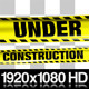 Yellow Under Construction Boundry Tape - 5 Videos - VideoHive Item for Sale