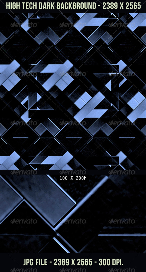 GraphicRiver High Tech Dark Background 4937131