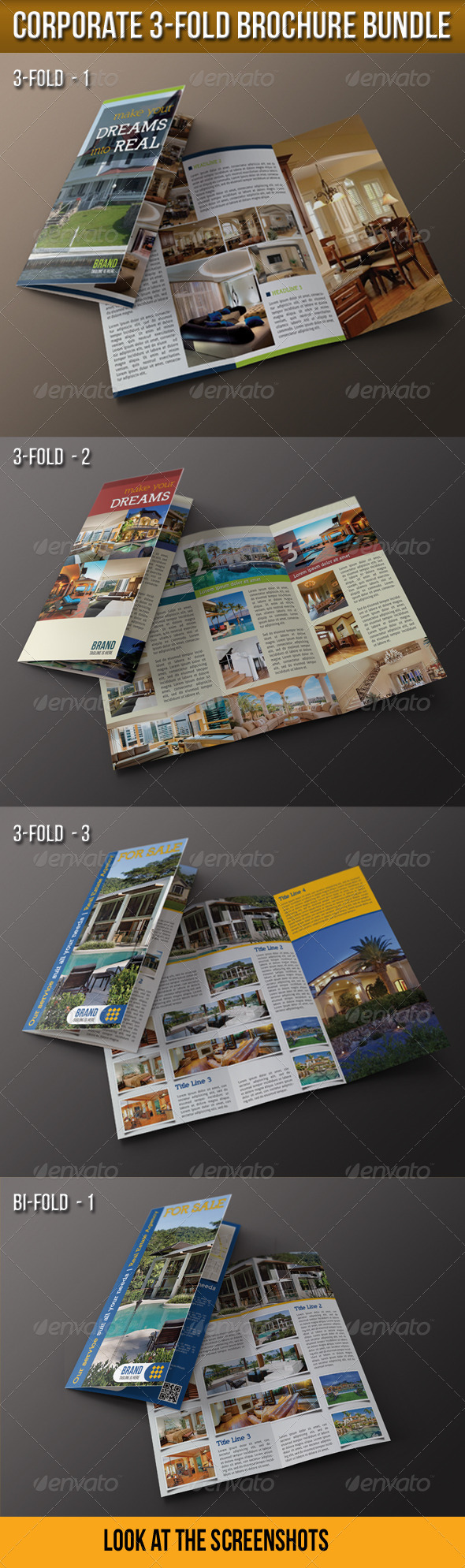 GraphicRiver Corporate 3-Fold Brochure Bundle 4937216