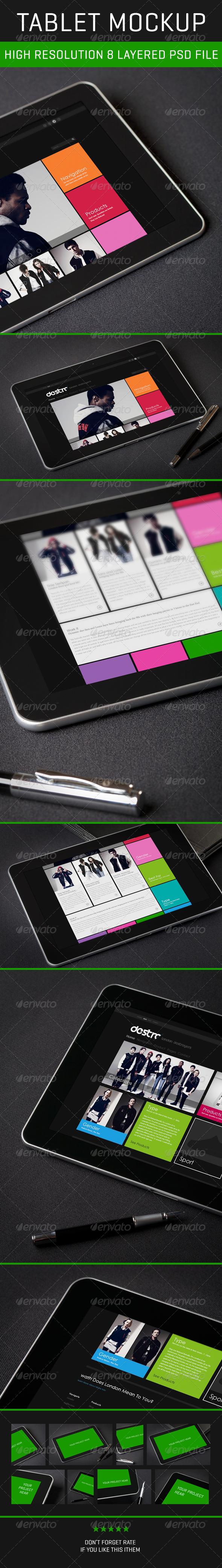 GraphicRiver Tablet PSD Mockup 4937241
