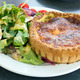 Quiche Lorraine Pastry with Salad Closeup - PhotoDune Item for Sale