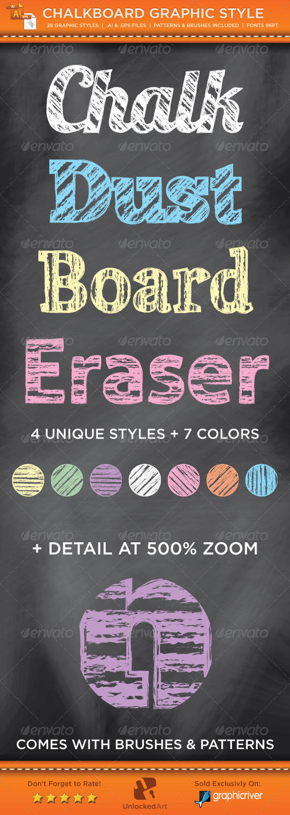 Chalk Board Graphic Style - Styles Illustrator