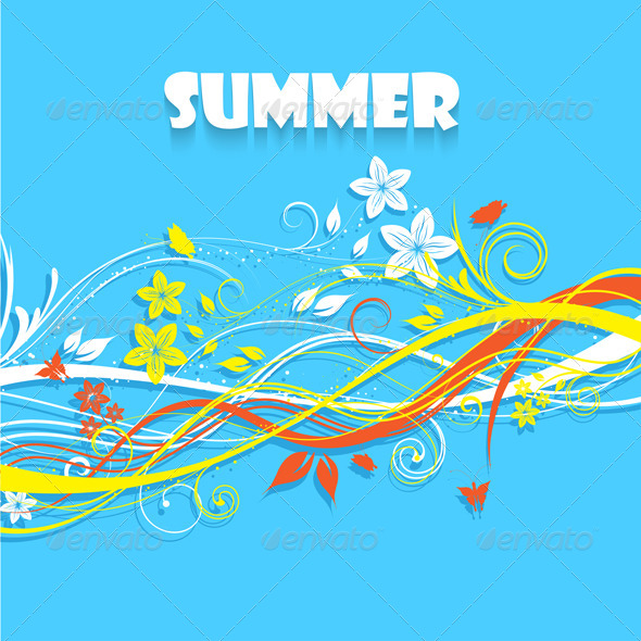 Floral Summer Background - Seasons Nature