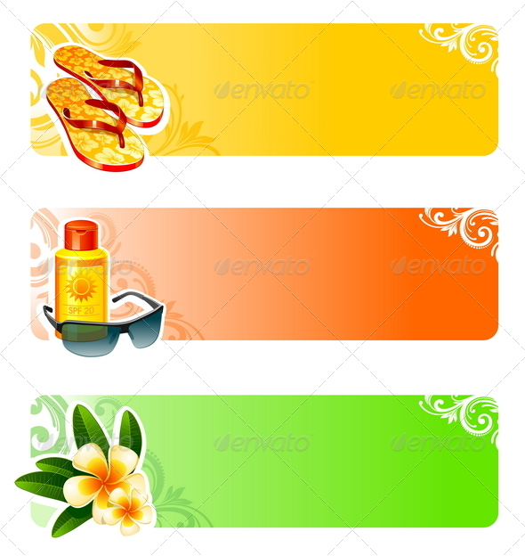 GraphicRiver Rest and Travel Vector Banners 4939313
