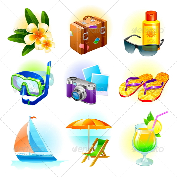 GraphicRiver Rest and Travel Vector Set 4939428