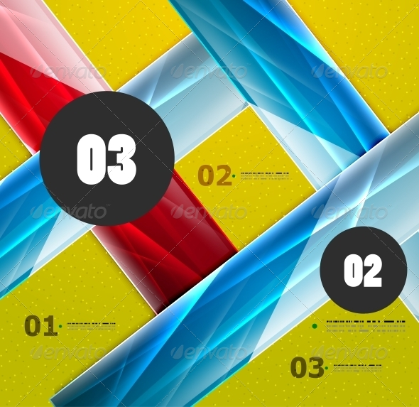 GraphicRiver Modern Abstract Steps Lines Template 4939825