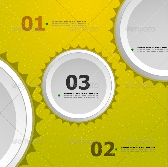 GraphicRiver Abstract Steps Circles Template 4939843