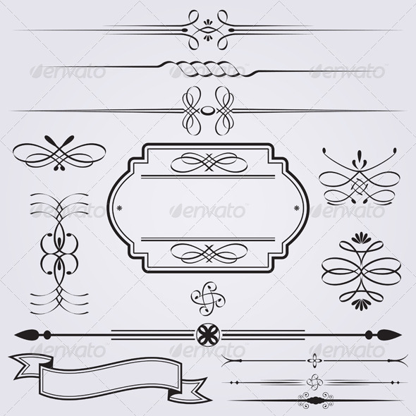 GraphicRiver Caligraphy Elements 4940035