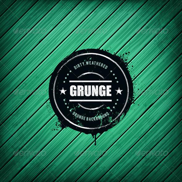 GraphicRiver Grunge Banner on Wooden Background 4940206