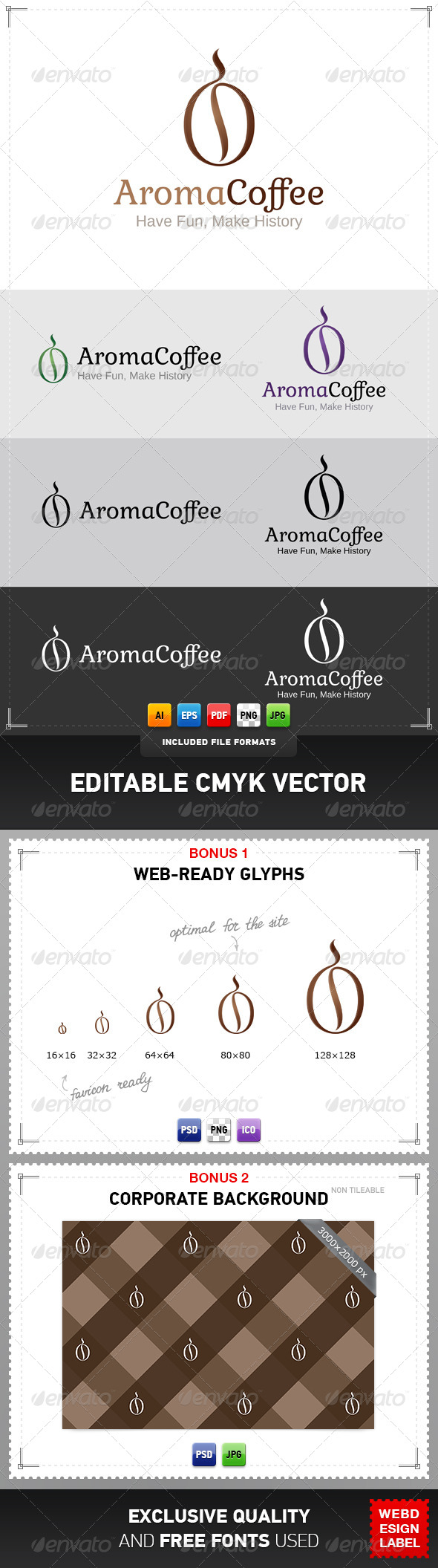 GraphicRiver Aroma Coffee Logo 4916139