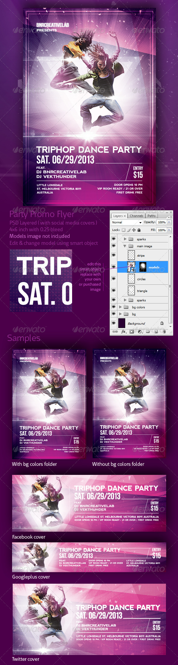 GraphicRiver Triphop Dance Party promo flyer 4838481