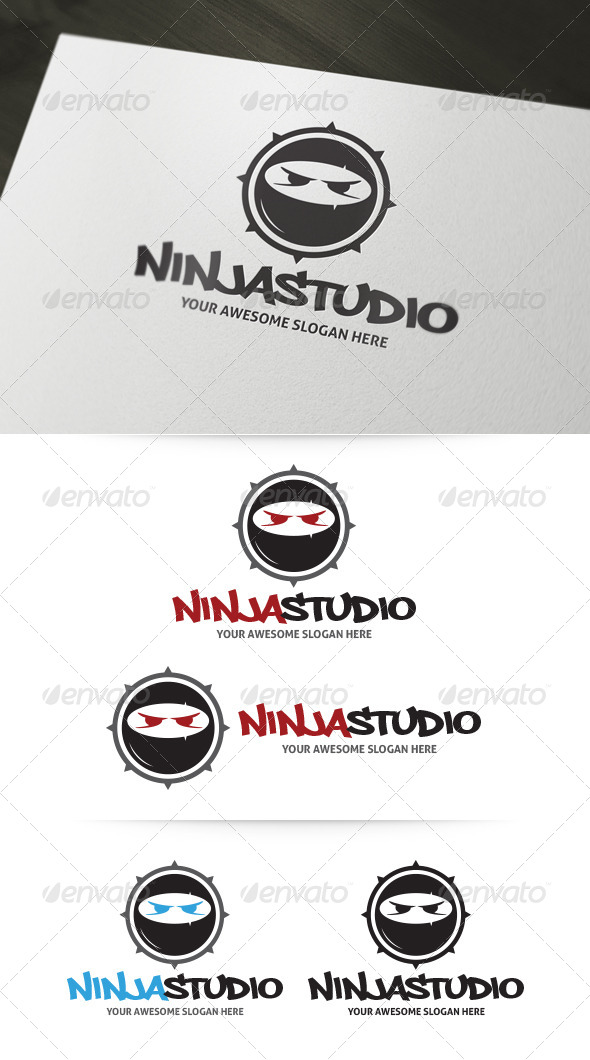 GraphicRiver Ninja Studio Logo 4941261