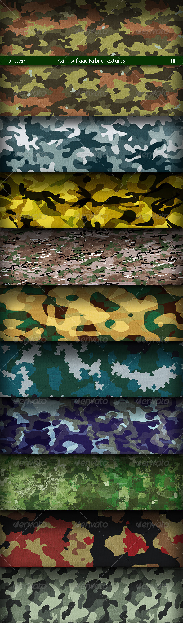 GraphicRiver Camouflage Fabric Patterns 4941516
