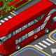Isometric Double Decker Bus in Rear View - GraphicRiver Item for Sale