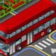Isometric Double Decker Bus in Front View - GraphicRiver Item for Sale