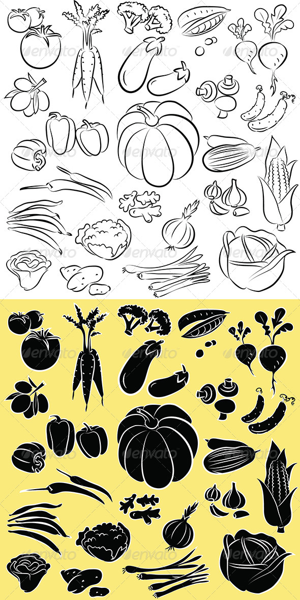 GraphicRiver Vegetables Vector 4941893
