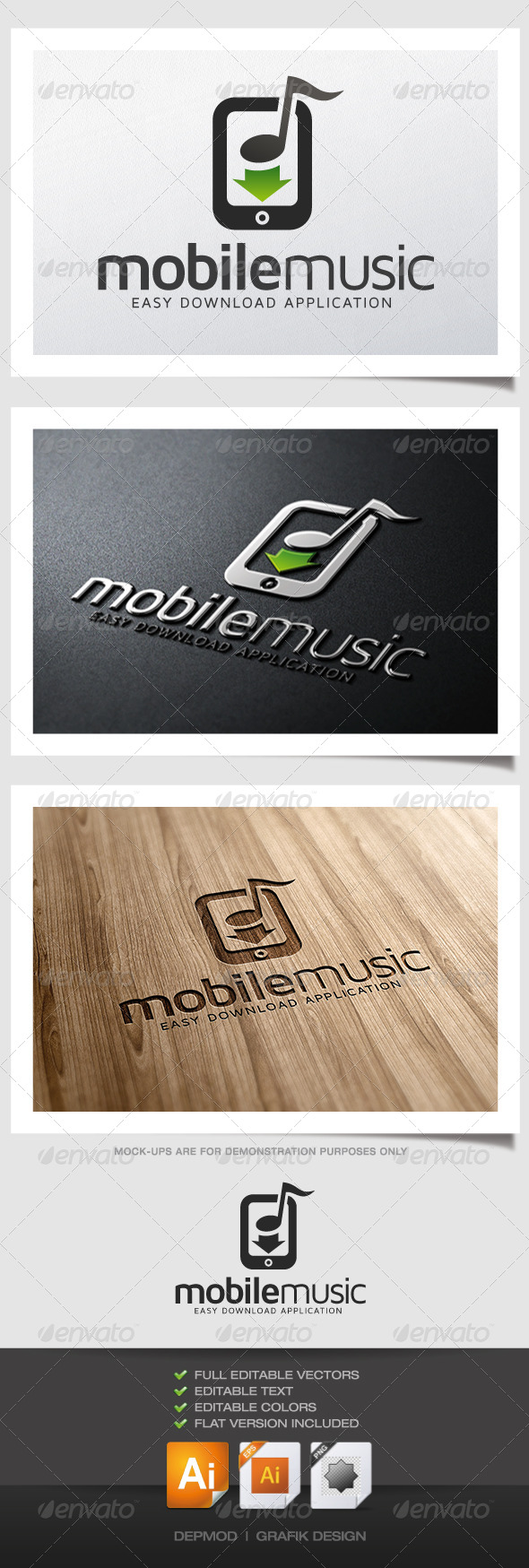 GraphicRiver Mobile Music Logo 4941561