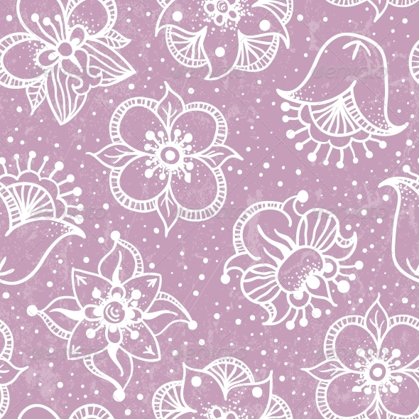 GraphicRiver Seamless Floral Pattern 4944314