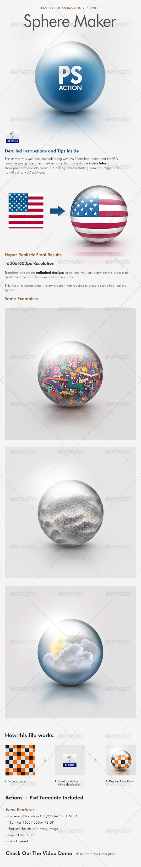 GraphicRiver Sphere Maker Photoshop Action 4945066