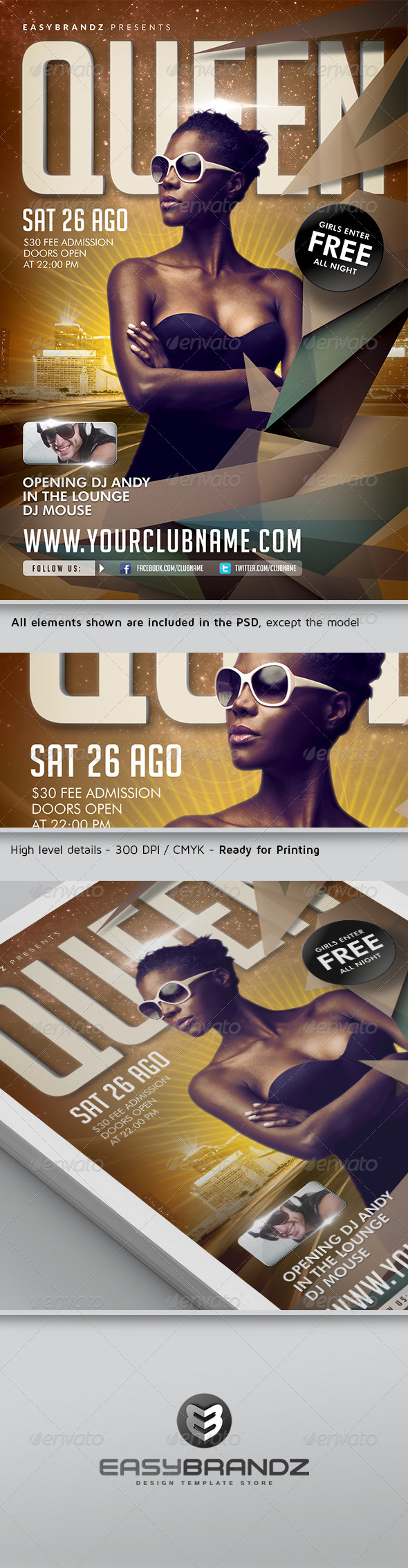 GraphicRiver Queen Flyer Template 4945486