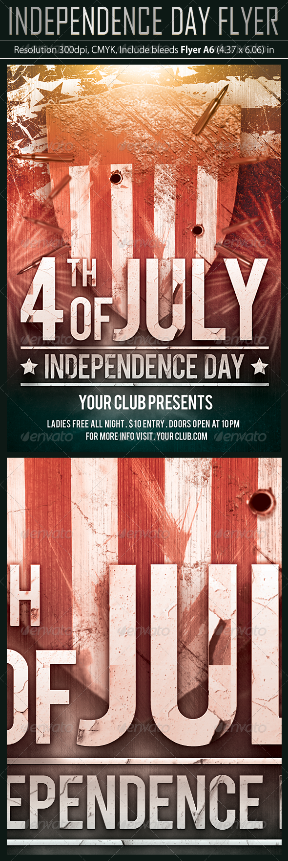 4 July Party Flyer - Holidays Events