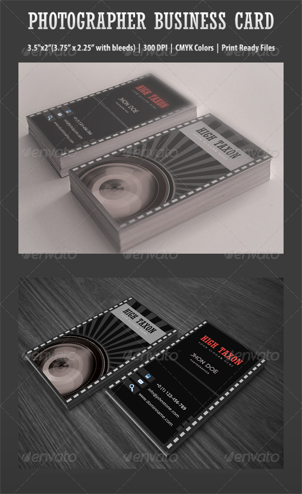 GraphicRiver Photographer Business Card 4863541