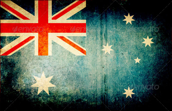 GraphicRiver Grunge Dirty Australia Flag 4946065