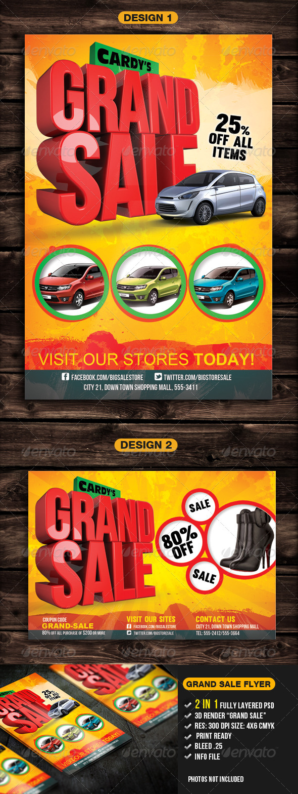 Grand Sale Flyer Template - Commerce Flyers