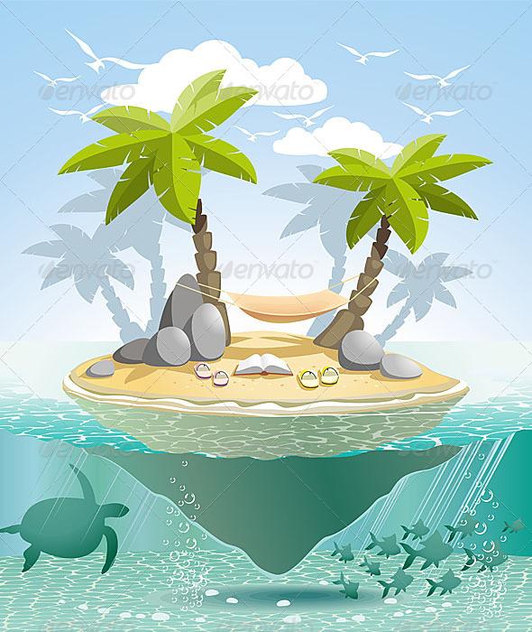 GraphicRiver Paradise Island 4946917