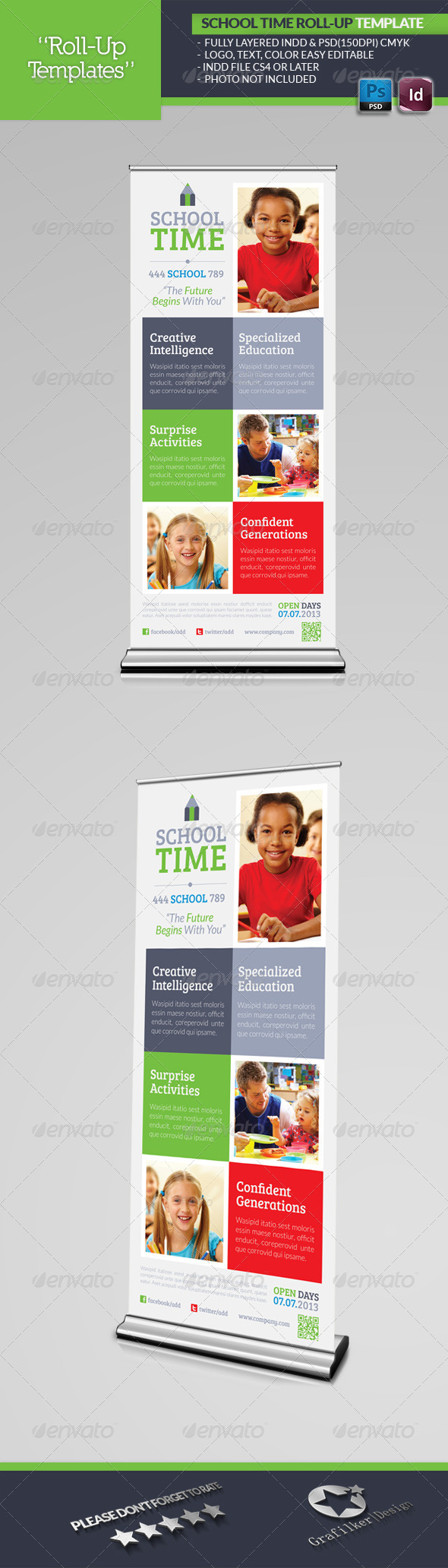 GraphicRiver School Time Roll-Up Template 4946972