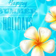 Frangipani Flowers in Clear Blue Water - GraphicRiver Item for Sale