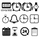 Clock and Time Icons - GraphicRiver Item for Sale