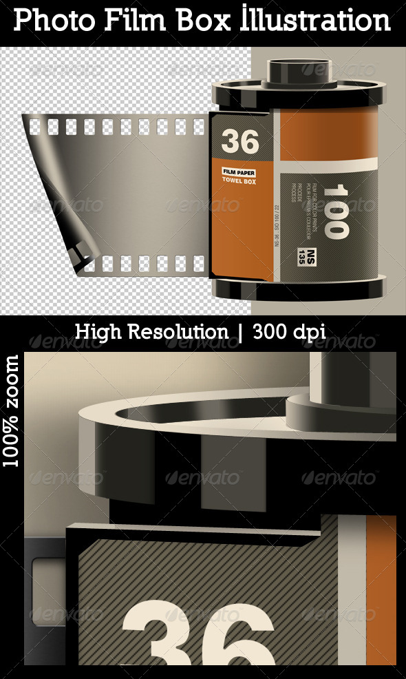 GraphicRiver Photo Film Box Illustration 4936938