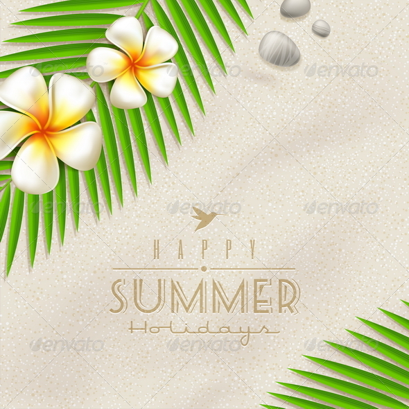 GraphicRiver Summer Holidays Vector Design With Lettering 4947952