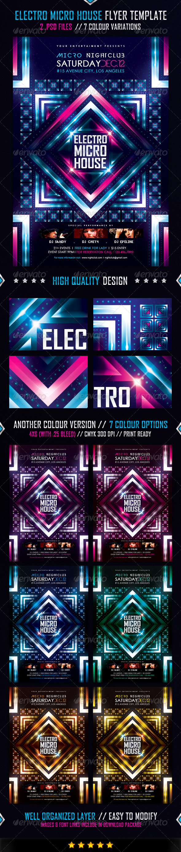 GraphicRiver Electro Micro House Flyer Template 4790645