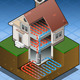 Isometric Geothermal Heat Pump Under Floor Heating - VideoHive Item for Sale