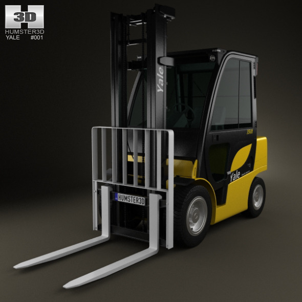 3DOcean Yale GDP 35VX Forklift 2012 4948101