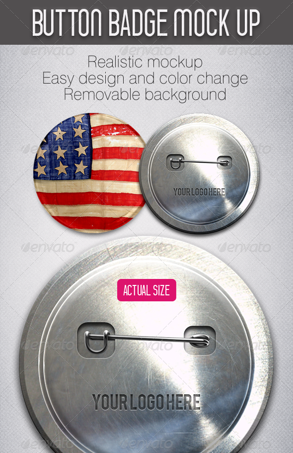 GraphicRiver Button Badge Mockup 4935413