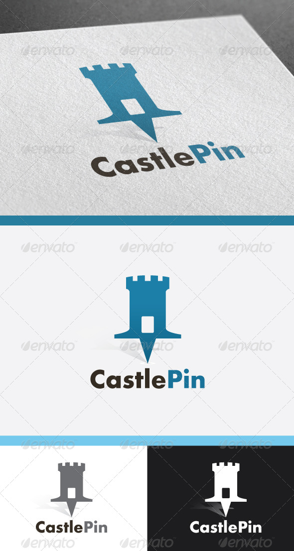 GraphicRiver Castle Pin 4941563