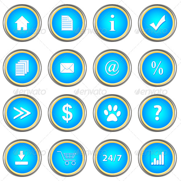 GraphicRiver Set of Blue Buttons 4948399