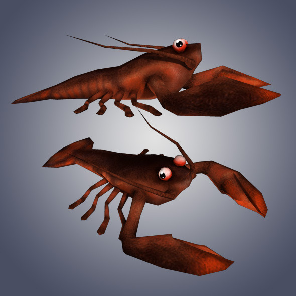 3DOcean Low Poly Lobster 4948470