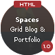 Spaces - HTML Responsive Grid Portfolio & Blog - ThemeForest Item for Sale