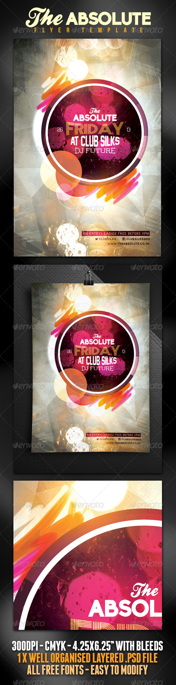 Absolute Nightclub/Party Flyer  - Clubs & Parties Events