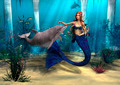 Mermaid and Dolphin  - PhotoDune Item for Sale