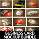 Realistic Business Card Mock-Up Bundle - GraphicRiver Item for Sale